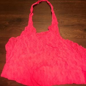 👙💕Hot pink halter mesh cover up